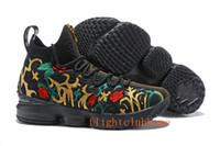 Wholesale Plastic Flowers For Sale - 2018 james 15 black flower Men lebron shoess Fruity Pebbles Sports Shoes Mens Running Shoes James 15 For Sale size 7-12