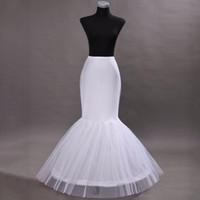 sirena enagua deshuesada al por mayor-Venta caliente Mermaid Petticoat / slip 1 Aro Bone Elastic Wedding Dresses enagua Crinoline Jupon Mariage Envío gratis