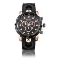 наручные часы силикон оптовых-2018 Новый INVICTA наручные часы швейцарский нержавеющая сталь розовое золото кварцевые часы мужчины Спорт военные DZ часы силиконовый ремешок армия календарь часы
