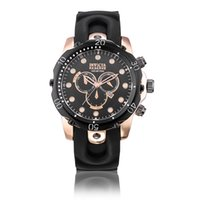 Wholesale Hour Glasses - New Business Quartz INVICTA watch Men sport Military DZ Watches Silicone Strap army wristwatch clock hours Complete Calendar Rose Gold Steel