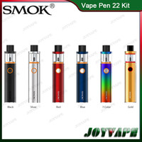 Wholesale Vape Smok - Authentic SMOK Vape Pen 22 Kit 1650mah Buit-in Battery With Top-Cap Filling Tank AIO Starter Kit With Structure Detachable 100% Original