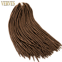 Wholesale blond braiding hair for sale - Group buy VERVES beautiful Faux locs crochet hair braid pack strands pack synthetic hair extensions black blond color
