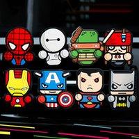 ingrosso carta vendicatori-Per Marvel Avengers Heros Figure Car Air Condition Vent Profumo Balsamo Fragranza Deodorante per interni Decorazione Car styling