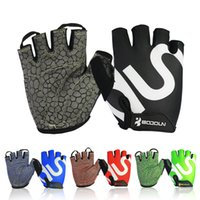 Wholesale red accessories for women for sale - BOODUN Cycling Gloves Practical Half Finger Non Slip Glove Wth Shock Absorbing Foam Mitten For Men And Women bd B