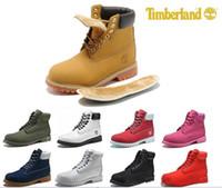 botas rojas talla 11 al por mayor-Original para hombre mujer Moda invierno botas castaño negro blanco rojo azul gris para mujer hombre diseñador bota tamaño 5.5-11 envío rápido