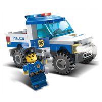 Wholesale police set toys resale online - 2017 New Block set Police Pickup Car Model Building Blocks Assembling Christmas Toys for Children Compatible with