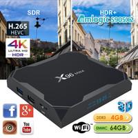 wifi ac оптовых-Андроид 8.1 ТВ коробка X96 максимум 4 ГБ 64 ГБ четырехъядерный встроенный S905X2 ТВ коробка поддержка 2.4 г 5.8 г двухдиапазонный беспроводной сети переменного тока ВТ4.0 порта USB3.0 Netflix И Хулу Шоубокс