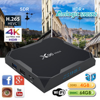 max ac großhandel-Android 8.1 TV-Box X96 max 4 GB 64 GB Quad-Core Amlogic S905X2 TV-Box Unterstützung 2,4 G 5,8 G AC Dualband WiFi BT4.0 USB3.0 Netflix HuLu ShowBox