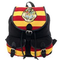 Wholesale harry potter fabric online - New Harry Potter Backpack Bag Hogwarts Knapsack Backpack x in Backpack Notebook Striped Canvas Bag