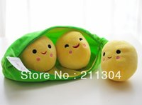Wholesale Friends Tv Series - Wholesale- Free Shipping Plush Toys 25cm length three peas pillow cushion soft stuffed super cute doll kids friends gift (small size)