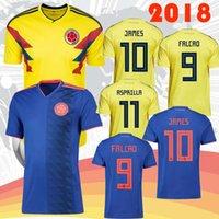 Wholesale c 19 - 2018 Colombian soccer jerseys home away jersey custom JAMES FALCAO CUADRAD AGUILAR GUARIN C SANCHEZ ESCOBAR GUARIN 18-19 Football shirt