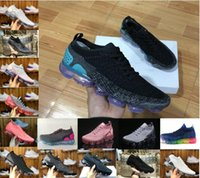 Wholesale fashion knit fabrics - New vapormax 2.0 Flagship Shoes men women white Black pink knitting trainers fashion designer sneakers Casual shoes