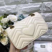 Wholesale Purple Cross Body Bag - Toppest Quality 22 26 31CM Lambskin Leather Marmont Messenger Bag Long Chain Bag Designer Shoulder Bags Ancient Gold Chain