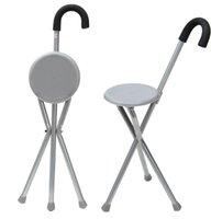 складывание штатива оптовых-Складной алюминиевый штатив трость походный стул портативная трость с пластиковым сиденьем нескользящей тростью открытый инструмент