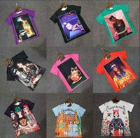 Wholesale Paris Cap - Newest Women Funny Printed Tee Shirt gift Paris Design 3D T Shirt Female Women's barcelo Slim Fashion T-shirt