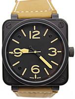 магазин часов оптовых-2018 Оптовая BR-01 новый BELL MENS LIMITED EDITION мужские часы черный резина нержавеющая сталь автоматические наручные часы бесплатная доставка