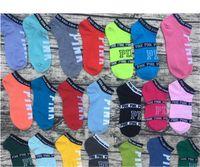 les sous-vêtements les plus courts des filles achat en gros de-Chaude Rose Lettre Chaussettes Rose Anklet Sport Chaussant Coton De Mode Chaussettes Courtes Fille Pantoufle Sexy Amour Rose Navire Chaussettes D'été Sous-Vêtements