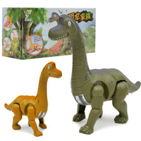 Wholesale battery operated toy animals - Children Electric Simulation Dinosaur Model Toys Walking Give Out Light Animal Toy Funny Parent Child Game 6 6hy W