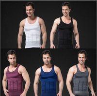 Wholesale slimming muscle vest resale online - Mens Slimming Body Shaper Vest Shirt Tank Top Men s Tummy Waist Vest Lose Weight Shirt Slim Compression Muscle Tank Shapewear