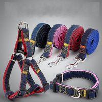 Wholesale dog walking vest resale online - Wear Resisting Cowboy Dog Leash Multicolor Training Adjustable Traction Rope Walk Out Hand Strap Vest Collar Leashes Accessories t4 ff
