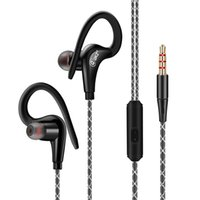 neuer mikrofonhaken großhandel-HIFI Subwoofer Stereo-Ohrbügelkopfhörer DM500 Neuer Sportkopfhörer Mobile Music Headset mit Mikrofon