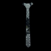 trajes de titanio al por mayor-Nueva llegada Titanium negro Slim Fashion Tie Halloween Christmas Costume Dress Acrílico Corbata Geométrica Acrílico Corbata Moda