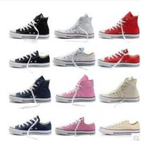 Wholesale High Low Style Sneaker - 2018 HOT sell New 15 Color All Size 35-46 Low high Style sports stars Classic Canvas Shoe Sneakers Men's Women's Canvas Shoes XMAS gift
