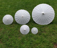Wholesale Chinese Parasols Wholesale - bridal wedding parasols White paper umbrella Chinese mini craft umbrella 5 radius:10,15,20,30,42cm wedding favor decoration