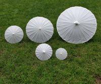 artigos de guarda-chuvas de papel venda por atacado-Guarda-chuva de casamento nupcial Guarda-chuva de papel branco 5 diâmetro: 20,30,40,60,84 cm Chinês mini ofício guarda-chuva de casamento favor decoração