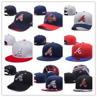 Wholesale Brave Blue - Wholesale newest popular Atlanta snapback custom brave football baseball basketball America Sports Snapback hats adjusted caps fitted hats
