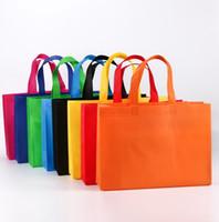 sacos de compras tecidos feitos sob encomenda venda por atacado-Personalizado seu logotipo não tecido sacolas livre Design personalizado compras não tecido saco Popular E-co saco LX4071