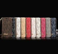 carteira samsung s venda por atacado-Luxo carteira phone case para iphone x xs max xr 8 7 6 s plus virar couro celular shell capa para samsung galaxy s9 s8 s7 s6 borda nota 8 5