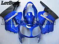 ingrosso corredi zig-zag abs zx12r-Kit carenatura moto adatto per Kawasaki Ninja ZX12R ZX-12R 2000 2001 00 01 Kit carenature Stampaggio ad iniezione plastica ABS di alta qualità C524