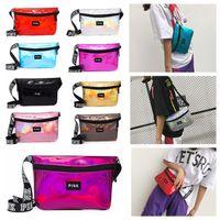 Wholesale wholesale womens bags purses - LOVE PINK Style Womens Laser Waistpacks Purses Pocket Bags Girls Cosmetic Bag Ladies Storage Stuff Sacks Waist Bag Running Travel Waterproof