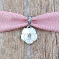 amuletos de pera al por mayor-Auténtico 925 cuentas de plata esterlina pera colgante de la flor del encanto adapta a las pulseras de la joyería del estilo de Pandora europeo