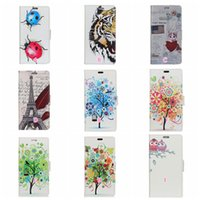 Wholesale eiffel tower wallets - Eiffel Tower Owl Leather Wallet Case For LG G7,For Moto E5 Play Plus Galaxy A6 Tree Tiger Cat Love Heart ID Card Slot Flip Cover Skins Pouch