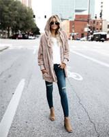 manteau d'hiver à double face achat en gros de-Manteau de mode en fausse fourrure pour femmes à capuche à deux côtés Manteau d'hiver Streetwear Femme Manteau chaud et confortable