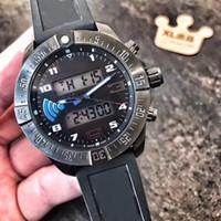 часы мужчины цифровой фарфор оптовых-цифровой указатель двойной шоу Мужчины часы Китай кварцевые дата высокого качества Оптовая роскошные мода новый из нержавеющей стали мужские часы