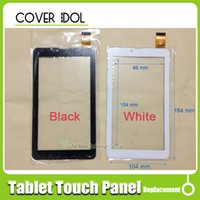 Wholesale ipad 3g screen digitizer resale online - 10pcs inch HS1275 V106pg Touch Screen Black for TEXET NaviPad TM G Touch Panel Tablet PC Panel Digitizer
