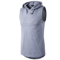 Wholesale Men S Vest Hoodies - Wholesale - New Men's Hoodies Sweatshirts Training Male sports vest Men's t-shirts Cotton Vests Casual Hoodies Europeans Men's Tank Tops