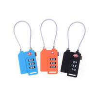 Wholesale combination travel suitcase luggage padlock lock for sale - 3 Colors TSA Resettable Digit Combination Lock Travel Luggage Suitcase Code Padlock For The Airport and Travel Party Favor CCA10202