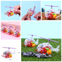 Wholesale toy airplanes helicopters online - Transparent Mini Aircraft Toys Airplane Wind up Clockwork Toys children s educational toys aircraft plastic Helicopter Xmas Toy FFA1199