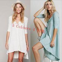 Wholesale knitting round dresses for sale - Irregular Loose Knitted Long Dress Women Irregular Hem Maxi Dress Autumn Maxi Dress Colors LJJO4389