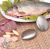 ingrosso odore di bar della cucina-Forma ovale Sapone in acciaio inox Magic Eliminando Odore Odore Pulizia Kitchen Bar Hand Chef Odore Remover di piccola taglia C100