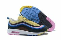 Wholesale blue hybrid - Brand New 97 Ul SE Sean Wotherspoon Men Running Shoes Top 97s Women Vivid Sulfur Multi Yellow Blue Hybrid Sports Sneakers 36-45