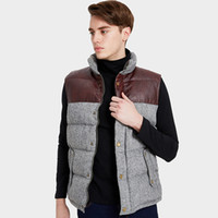 Wholesale men s winter vest casual for sale - Group buy Markless Winter Down Vest Men s Clothing White Duck Down Vests Thick Warm Sleeveless Waistcoat YRA2326M