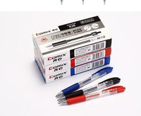 Wholesale box gel pens for sale - Group buy Retractable Gel Ink Pens Ultra Fine Point Black Blue Red Pack boxes