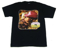 ingrosso cappelli di cowboy rosa-Madonna Music Pink Cowboy Hat Cowgirl Image Maglietta nera Nuovo ufficiale