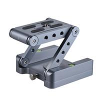 placa de montaje de liberación rápida al por mayor-Aleación de aluminio Z Flex Inclinación Cabeza de trípode Cabeza inclinada 360 Rotary Quick Release Plate Nivel de burbuja para Canon Nikon Sony Pentax