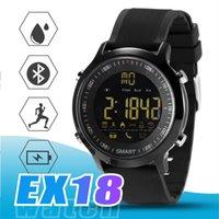 ingrosso avviso di chiamata del bluetooth-EX18 Smart Watch Sport Smartwatch Pedometro Orologio da polso Bluetooth Activity Tracker IP67 Supporto impermeabile Chiamata e allarme SMS per IOS Android